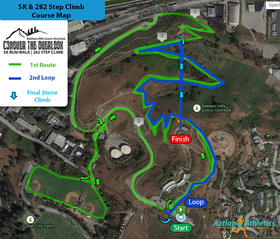 Course Map Conquer The Overlook Climb 2017